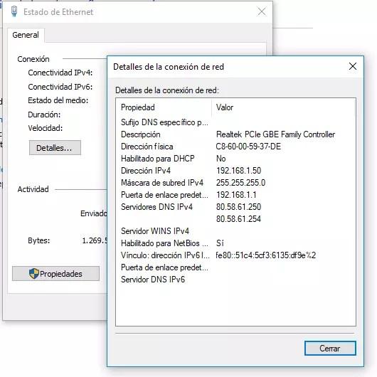 Puerta de enlace para acceder al router