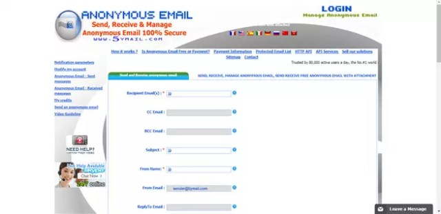 5ymail, emails temporales