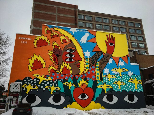 street art in Montreal, Canada
