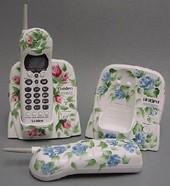 Handpaintedcordlessphone