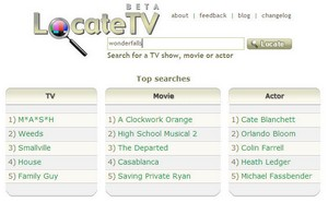 locatetv small Locate TV   good looking television search engine