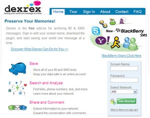 dexrex small1 Dexrex   free tool for archiving your IM conversations