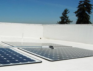 powerplystickysolartiles small PowerPly Self Adhesive Solar Panels   just peel off the backing and stick to your roof