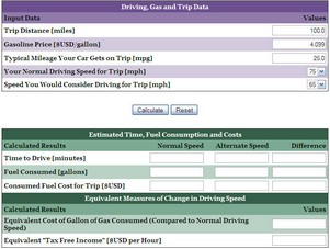 fuelsavingdrivingcalculator small Fuel Saving Driving Calculator   work out how to save gas through optimising your speed