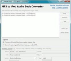 iPod Audio Book Maker – easily convert MP3 files to audio books