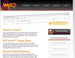 The Wyzo Bittorrent Browser – free Firefox offshoot offers integrated Bittorrent downloading