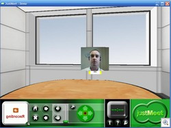 justmeet2 thumb Just Meet   online virtual reality telepresence meeting room for rent