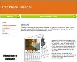 Free Photo Calendar – upload image and create a personalised date watcher