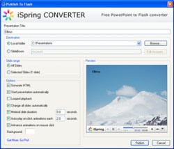 iSpring – PowerPoint to Flash converter