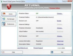 Returnil Virtual System 2008 PE – beat the malware merchants with a virtual partition