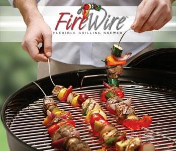 Firewire BBQ Skewers – non Euclidean cooking utensils