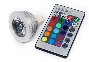 MR16 – Remote Control 16 Colour LED Spotlight