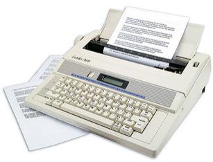 Electricwordprocessingtypewriter