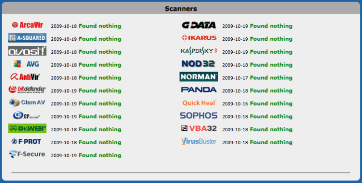 Jotti's malware scan – one online virus scanner to rule them all