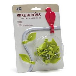 Wire Blooms – Bird on a wire cable clips tidy up the ugly wires