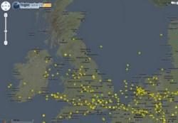 FlightRadar24 – super cool live aircraft tracker for Europe