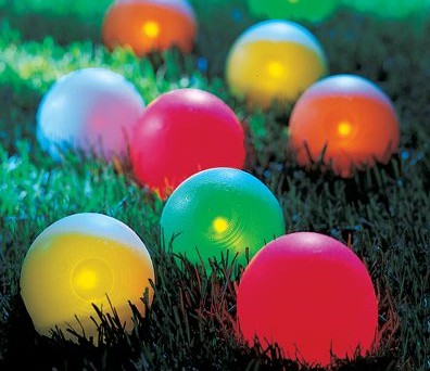 Lighted Bocce Set – Keeps the fun going after dark