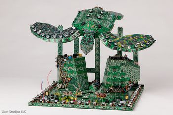 Steven Rodrig PCB Creations – From e-waste to awesome art
