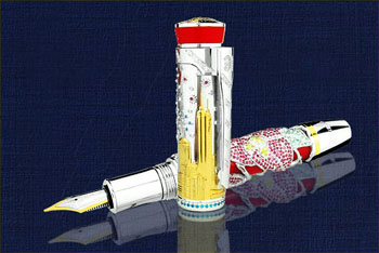 Ultra valuable pen inlayed with 6223 diamonds