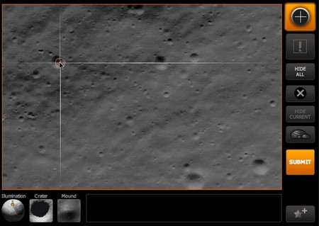 Moon Zoo – Help NASA search the moon, one crater at a time