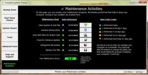 completesystemtuneup small Complete System Tuneup   freeware provides fast access to Windows maintenance utilities