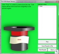 thehat3 thumb The Hat   super cool freeware utility for picking a name from a hat