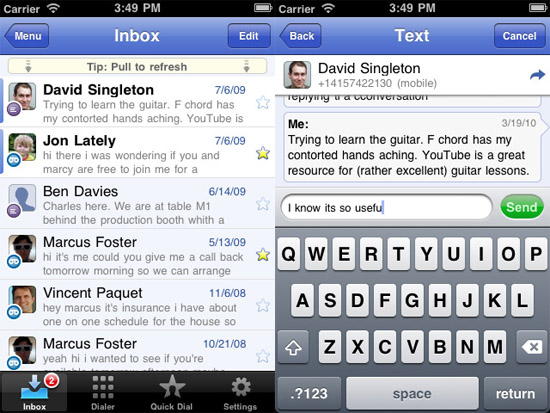 Google Voice App brings free texting to your iPod Touch