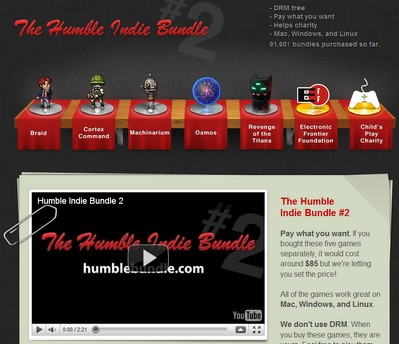 humbleindiebundle small1 Humble Indie Bundle 2   pay what you like games pack available again