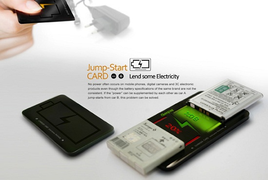 Jump-Start CARD lets you siphon power from one battery to another
