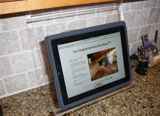 Kitchen iPad Rack is the perfect mounting system for when you're cooking