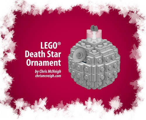 Construct your own Death Star ornament out of LEGOs