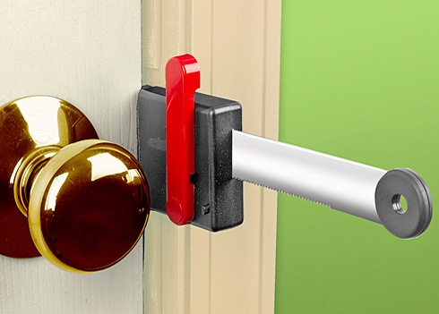 Portable Door Lock keeps everyone out of your room