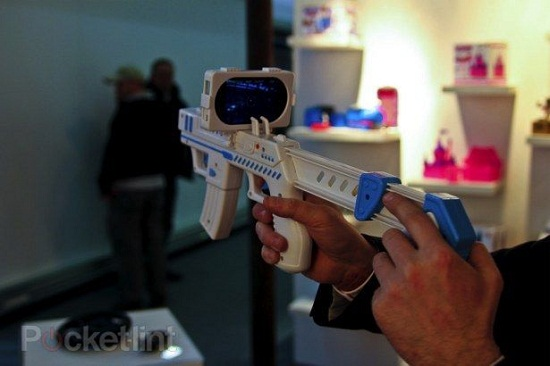 Turn your iPhone/iPod into a blaster gun toy