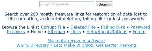 datarecoverylist small2 The Data Recovery Freeware List   200+ resources  for retrieving your lost data