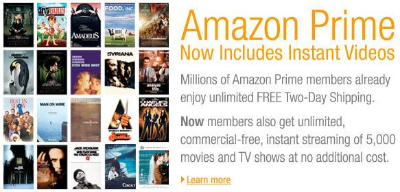 Amazon now offers streaming movies and TV shows to Prime members
