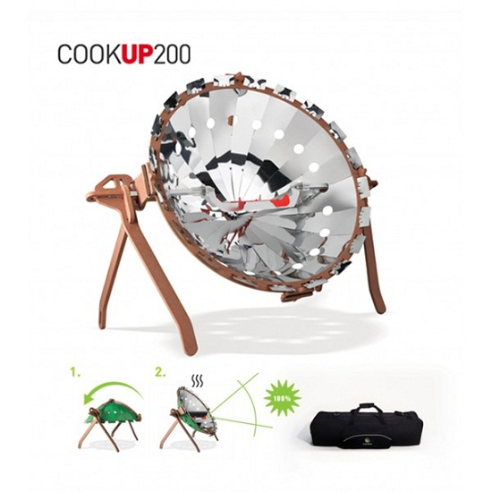 COOKUP200 Solar Oven With Potential Death Ray Capabilities