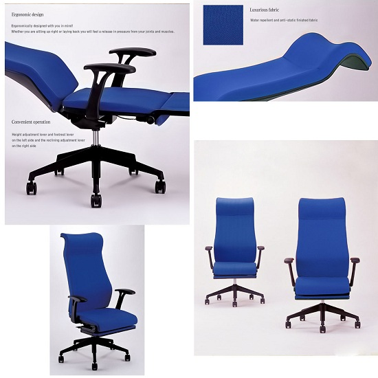 Office chair lays down and folds out to give you a nice place to nap