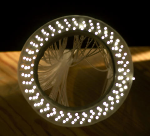 Build your own ring flash with fiber optic cables
