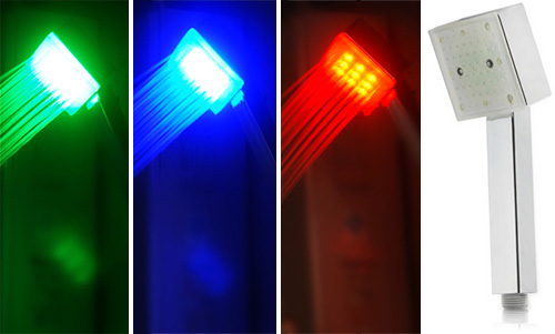 Water-Powered Color-Changing LED Shower Head