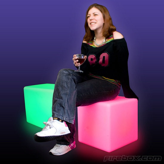 Color Changing Cube livens up your living room