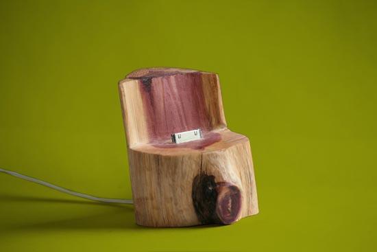Tree Trunk iPhone Dock