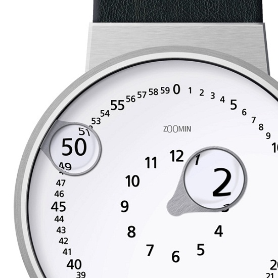 The Zoomin Watch has magnifying hands
