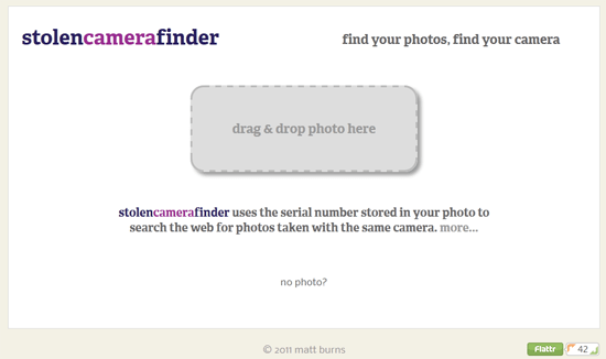 Freeware helps you track down your lost camera