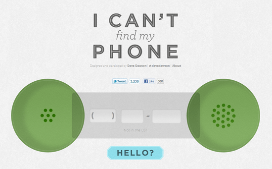 Can't find your phone? Use this site to call it