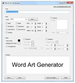 Word Art Generator – freeware lets you create fancy word art and logos