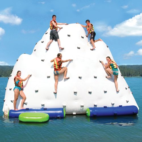 Gigantic Inflatable Climbing Iceberg won't sink the Titanic (just your wallet)