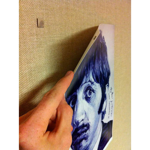 Hang your posters using magnets