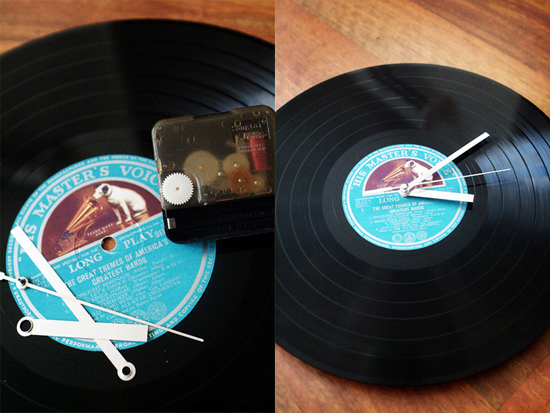DIY clock lets you put your favorite LP on the wall