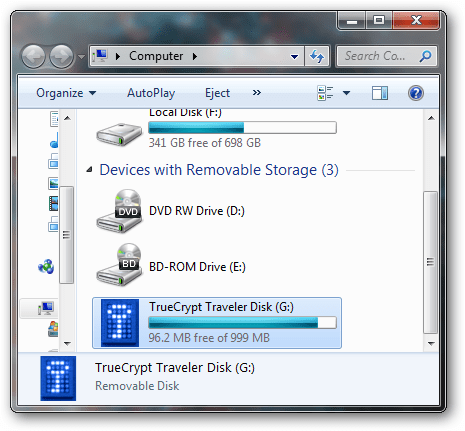Use freeware to encrypt your flash drive contents