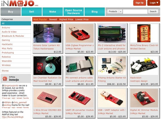InMojo is like the Etsy for open source hardware